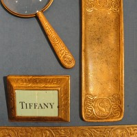 Tiffany Studios Signed and Numbered Zodiac Desk Set