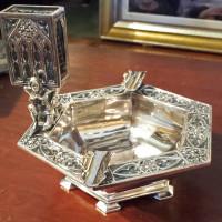 E.F.Caldwell Co. Silvered Bronze Cigar Holder
