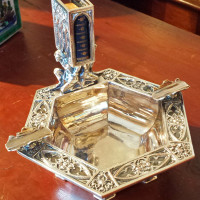 E.F.Caldwell Co. Silvered Bronze Cigar Holder