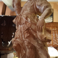 Italian Carved Figural Pricket Sticks