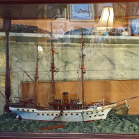 Early Ship Model in Original Glass Case